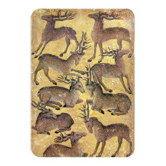 Antique Tarots /German Court Cards/Nine of Harts Card
