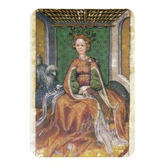 Antique Tarots /German Court Cards/Queen of Dogs Card