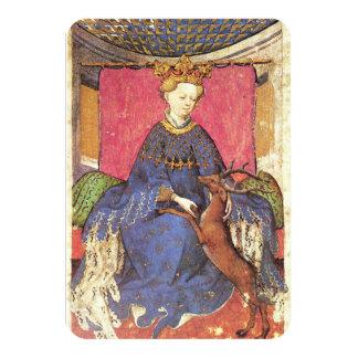 Antique Tarots /German Court Cards/Queen of Harts Card