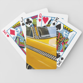 Antique Taxi Bicycle Playing Cards