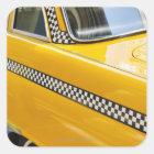 Antique Taxi Square Sticker