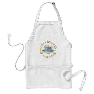 ANTIQUE TEA CUP AND SAUCER APRON