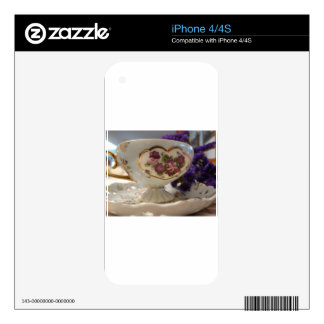 Antique Tea Cup and Saucer Decals For The iPhone 4S