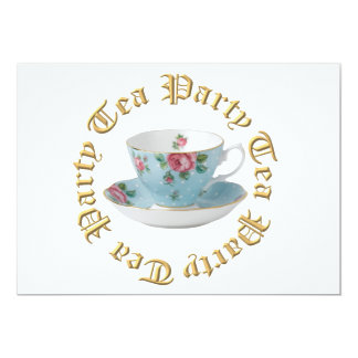 ANTIQUE TEA CUP AND SAUCER INVITATIONS