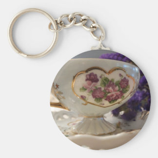 Antique Tea Cup and Saucer Keychain