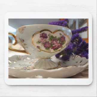 Antique Tea Cup and Saucer Mouse Pad
