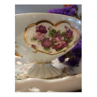 Antique Tea Cup and Saucer Postcard