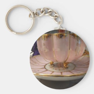 Antique Tea Cup & Saucer Keychain