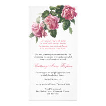 Antique Tea Rose Funeral Thank You Card