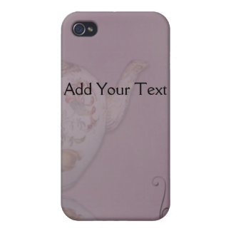 Antique Tea Time on Mauve iPhone 4/4S Covers
