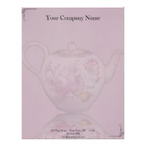 Antique Tea Time on Mauve Letterhead