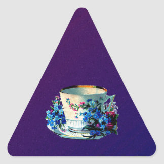 Antique Teacup Triangle Sticker