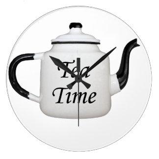 Antique Teapot Large Clock