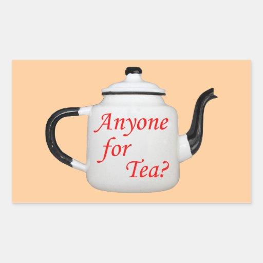 Antique Teapot Rectangle Stickers