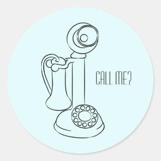 Antique Telephone Classic Round Sticker