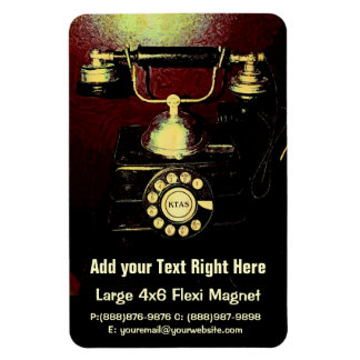 Antique Telephone Phone Number Book Magnet