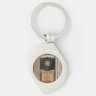 Antique telephone rotary dial pay phone keychain