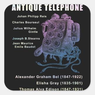 Antique telephone square sticker