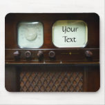 Antique Television and Radio Mouse Pad
