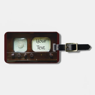 Antique Television and Radio Tag For Luggage