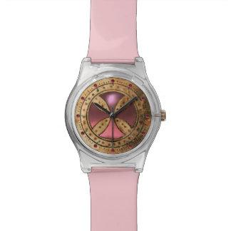 ANTIQUE TEMPLAR CROSS Light Pink Gem Watch