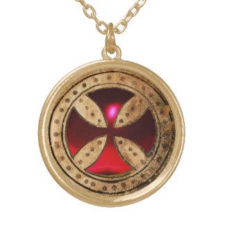 ANTIQUE TEMPLAR CROSS Red Ruby Gem Custom Jewelry