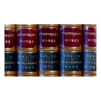 Antique Tennyson Books Business Card Templates