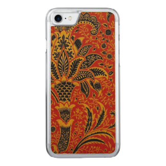 Antique Textile Carpet Red Wallpaper Pattern Carved iPhone 7 Case