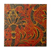 Antique Textile Carpet Red Wallpaper Pattern Tile