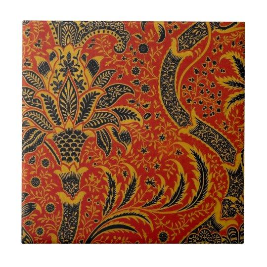 Antique Textile Carpet Red Wallpaper Pattern Tile Zazzle Com