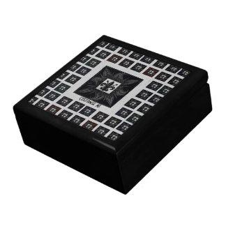 Antique Tiled Fleur de Lis (Black) Keepsake Box