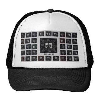 Antique Tiled Fleur de Lis (Black) Trucker Hat