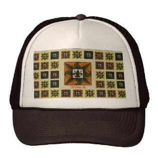 Antique Tiled Fleur de Lis (Orange) Trucker Hat