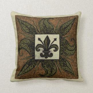 Antique Tiled Fleur de Lis Pillows