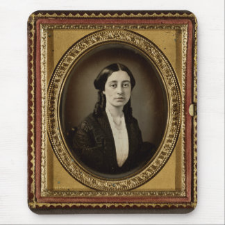 Antique Tintype Photo -- 1800s Young Woman Mouse Pad