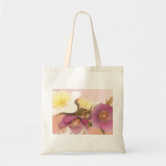 Antique Tone Hellebores and Daffodils Canvas Bag