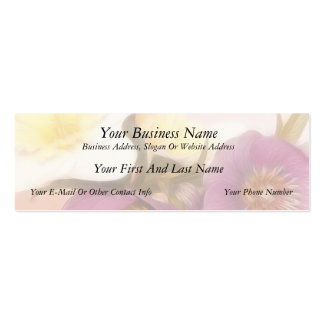 Antique Tone Hellebores and Daffodils Double-Sided Mini Business Cards (Pack Of 20)