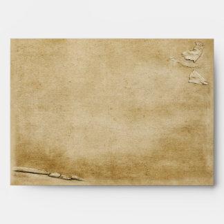 Antique Torn Paper A7 Envelopes