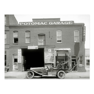 Antique Tow Truck, 1920s Postcard