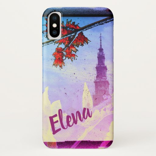Antique Tower, Magnolia and Maple Flower Phone iPhone XS Case