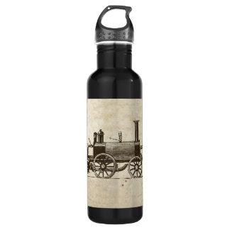 Antique Toy Steam Train Stainless Steel Water Bottle