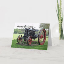 Antique Tractor Birthday Card
