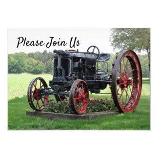 Antique Tractor Birthday Invitation