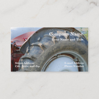 antique tractor business card