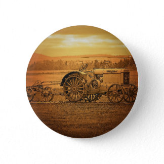 Antique Tractor Button
