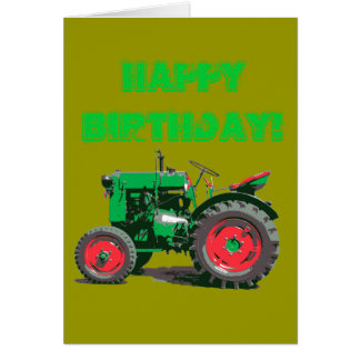 ANTIQUE TRACTOR CARD