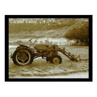 Antique Tractor Carmel Valley, CA Postcard