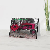 Antique Tractor Christmas Card by Vibeli