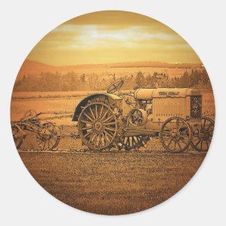 Antique Tractor Classic Round Sticker