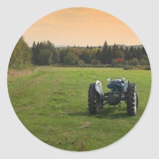Antique Tractor Classic Round Sticker